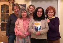 Barb Nahoumi, Beth Tafler, Cathy Fortin, Marianne Neuman and Alison Matthew Missing is Judy Samson Photo/submitted