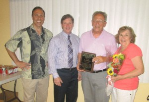 Marlborough Ward 4 City Councilor Rob Tunnera, Darren McLaughlin, general manager, Wayside Racquet & Swim Club, Joe Tunnera, winner of the 2015 George Fortin Fit For Life Award, and Ann Tunnera. (Photos/submitted)