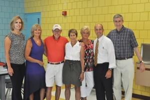 The Marlborough's Citizen's Scholarship Foundation announces its 25th anniversary benefit: (l to r) Diane Cronin, Mary Jo Nawrocki, Lee Benson, Mary Lou Vanzini, Deb Giroux, Steve LeDuc and Bill Brewin.