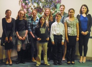 Winners of the Marlborough Public Library's Teen Writing Competition. (Photo/submitted)