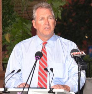 Mayor Arthur Vigeant reads a proclamation declaring International Overdose Awareness Day. Photos/Ed Karvoski Jr.
