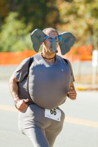 Luis Mendez of Sterling running in the Trick or Trot 5K.