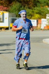 William Mendez of Lancaster running in the Trick or Trot 5K.