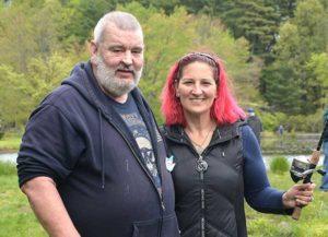 Veteran Tom Miller and volunteer Pamela M. Anderson visit Marlborough from the Soldiers' Home in Chelsea. Photos/Ed Karvoski Jr.