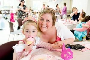 Isabella Bitar and her Mom enjoy cupcakes.