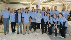 The Fresh Start Furniture Bank recently hosted a group of 20 employees from EMC who volunteered to build and paint 20 toddler beds.