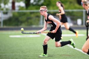Marlborough's #10 Connor Hennessy juggles the ball.