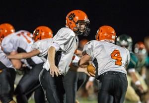 Marlborough High School's Brian Short hands off to Owen Cappadona.