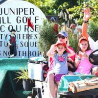 Longtime Northborough business Juniper Hill Golf Course is represented with a float. Photos/Ed Karvoski Jr.