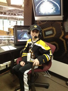 Andrew Roberts in Andy Brickley's NESN Seat