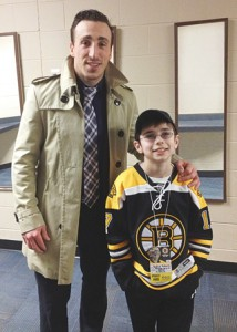 posing with Brad Marchand