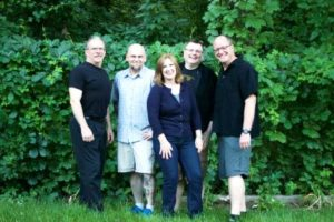 Members of Mixed Company will perform at Applefest Saturday, Sept. 17: (l to r) drummer Bruce Hanahan, bass player Dave Crittendon, rhythm guitar player Tom Woodsum, lead guitar player Tracy Jenkins, and lead vocalist Michelle Gates. (Photo/Nancy Rodriguez)