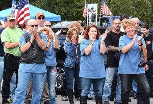 Ride supporters applaud for a speaker. Photos/Ed Karvoski Jr.