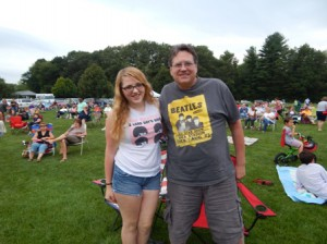 Northborough residents, Rachel Rudsit and her dad, John Rudsit at last year's Beatles for Sale concert. Photo/Debra Roberts