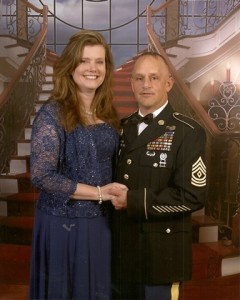 Master Sergeant Timothy E. Bombard and his wife, Tammy Photo/submitted