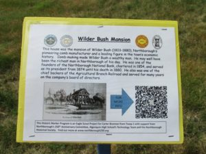 Example of the descriptions at each marker that each visitor can read to learn more about that particular place. This one marks the home of Wilder bush, Northborough's pioneering comb manufacturer and leading figure in the town's economic history.