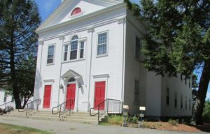 The site of the Unitarian Universalist First Parish Church holds a lot of history for Northborough including the site of the First Meeting House and the Second Burial Ground.