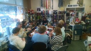 "Knitters gather for ""Mystery Knit-A-Long"" Photo/submitted"