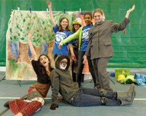 Northborough students from the Robert E. Melican Middle School and Advanced Math & Science Academy present their original project at the Destination ImagiNation Regional Tournament March 23. (Photos/submitted)