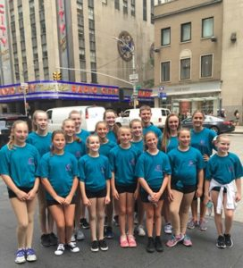 Dancers from Dawn's School of Dance in New York City