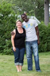 Deb Bourque and Momodou Bah (Photo/Alena Kuzub)