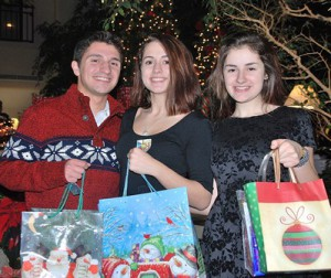 Collecting personal items for Roland's House and the Willis House are (l to r) Marlborough High School senior Tony Maenhout, junior Fatima Awada, and freshman Ivana Awada.