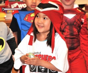 Anehea Sun, 5, is set to test her super powers by playing a game.