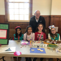 Girl Scout Troop 30652 with Fire Chief David Parenti Photo/submitted