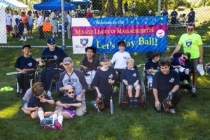 Members of the Miracle League of Massachusetts at the Make Your Mark fundraiser.