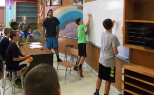Campers compete in Pictionary during Olympics Week at the Northborough Recreation Department Summer Camp.  Photo/Gregory Arnold