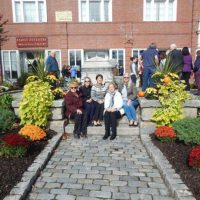 (l to r) Joyce DiGregorio, Northborough Garden Club president, Kathy Taylor, Julie Taylor-Moran, Janice Ferenchick and Shirley Tetreault Photo/Melanie Petrucci