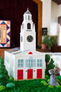 "A cake modeled after the First Parish Church created by the ""Cake Boss"" Buddy Valastro"