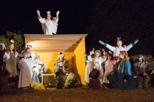Members of the Church of the Nativity perform in their annual Living Nativity presentation.