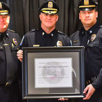Members of the Northborough Police Department receive their accreditation award. Photo/submitted