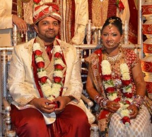 Newly married Northborough resident Bhartiben Vipulbhai Patel and her husband Vipul Vikrambhai Patel. (Photo/submitted)