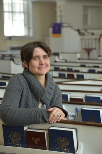 Photo: Rev. Valeria Schmidt, Pastor of Trinity Church in Northborough. (Photo/Jennifer MacNeil)