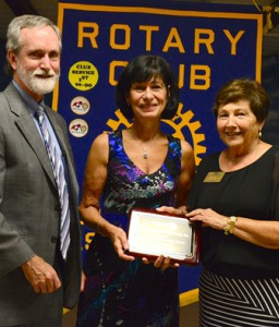 Northborough - George Pember, chair, Rotary Club of Northborough Pride in Workmanship Award committee, Dawn Rand, recipient of Pride in Workmanship Award and Patricia Doyle, president, Rotary Club of Northborough. (Photo/submitted)
