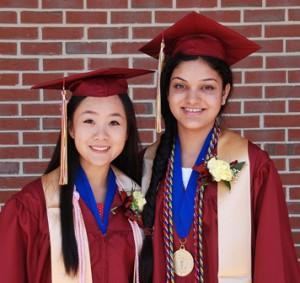Stephanie Wu is the salutatorian and Anushka Dasgupta is the valedictorian.