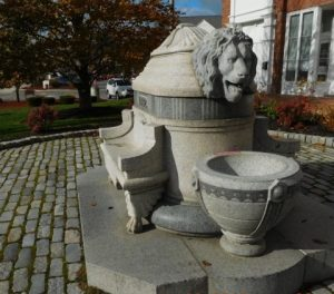 Lion Fountain in Northborough center that was donated by Daniel Wesson in 1882 Photo/submitted