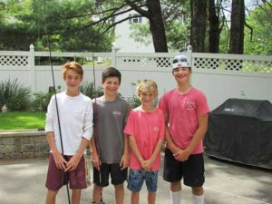 (l to r) Johnny Meschisen, Rocco Postizzi, Nathan Meschisen, and Luke Palma Photos/submitted