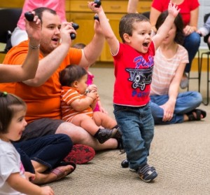 Northborough resident Matthew age 2- 1/2, shakes and dances to the music.