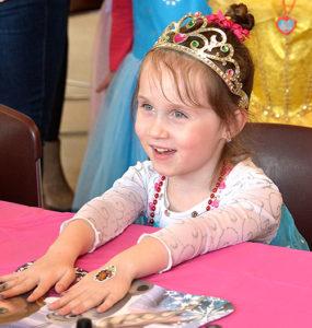 Charlotte LaClair, 4, gets her nails polished. Photos/Ed Karvoski Jr.