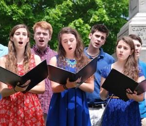 Members of the Algonquin Regional High School Chamber Choir sing