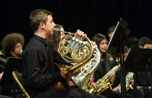 Jared Entwistle plays the French horn in Algonquin's ninth-grade concert band.