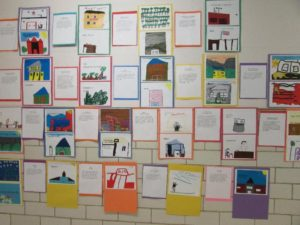 First grade's A-Z of Northborough exhibit.