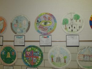 Fourth grade's exhibit showcasing student ideas for a new Northborough town seal. (Photos/submitted)