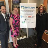 l to r) James Fuccione, senior director of the Massachusetts Healthy Aging Collaborative; Representative Danielle Gregoire; and Representative Kate Hogan Photo/submitted