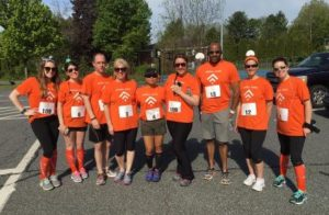 Avidia employees participate in physical activities, such as community walks and road races. Photo/submitted