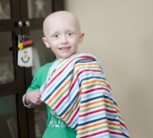 ? Brady, 4, of Webster uses his Binkeez to keep warm during treatments for neuroblastoma.
