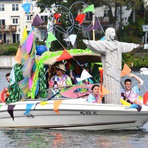 The Allen family's boat celebrates the Summer Olympics host city of Rio de Janeiro in Brazil.